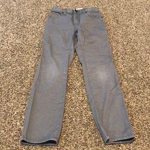 Old navy grey skinny jeans 10 slim